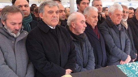 Abdullah Gül ve Binali Yıldırım cenazede bir araya geldi