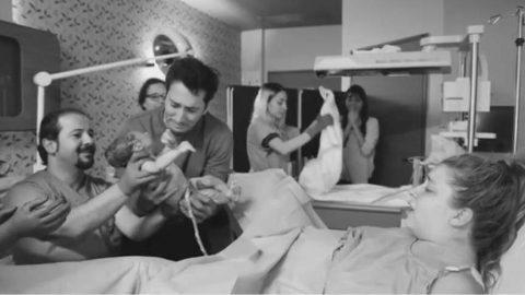 Gamze Erçel doğum anını paylaştı