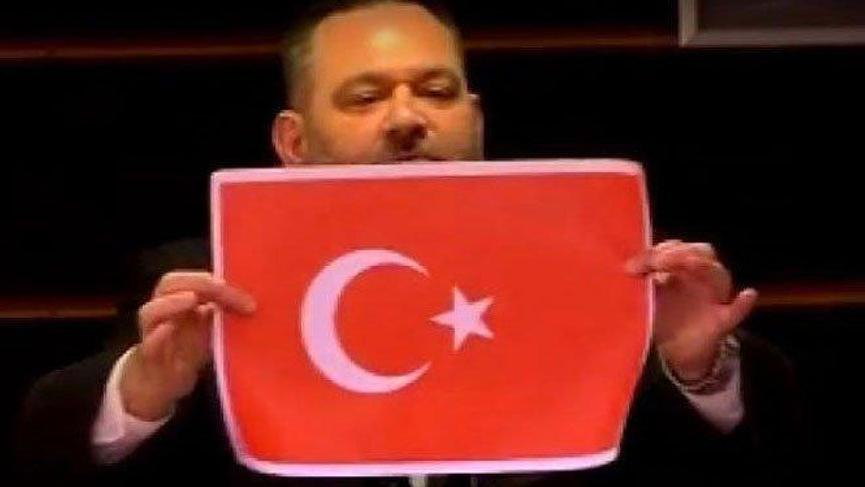 MSB'den Türk bayrağını yırtan Yunan vekile sert tepki!