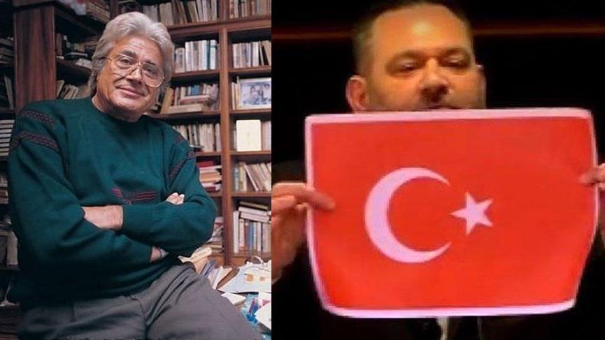 Türk bayrağını yırtan Yunan vekile bir yanıt da Cüneyt Arkın'dan