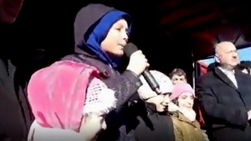 Küçük kızın isyanı: Tayyip dede bizi zehirliyorlar