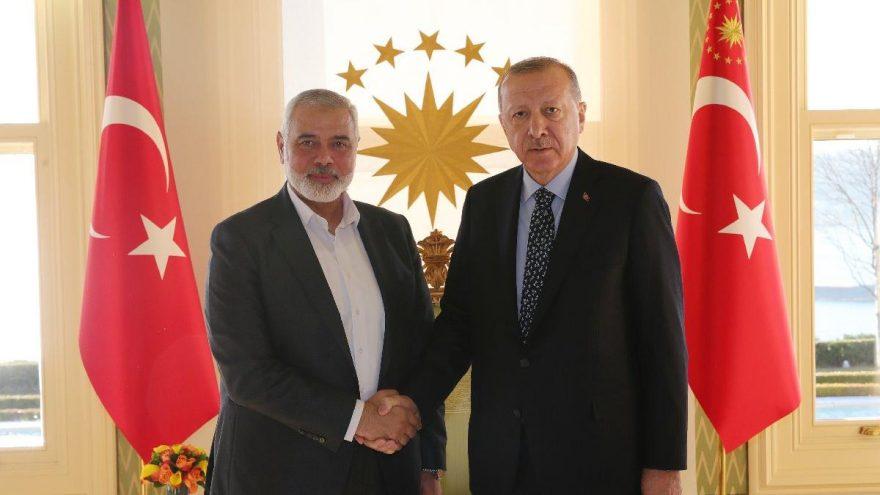 Erdoğan, Hamas Lideri Heniyye'yi kabul etti!