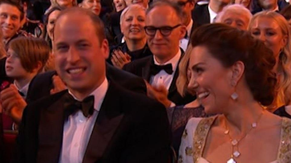 BAFTA'ya damga vuran an! Harry göndermesi William ve Kate'i kahkahaya boğdu!