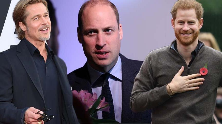 Brad Pitt'ten, Prens William'ın karşısında Prens Harry çıkışı!