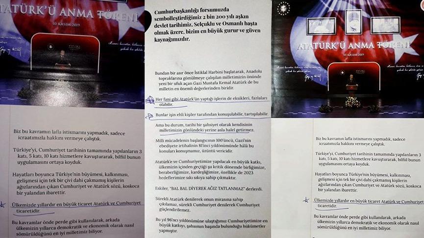 Erdoğan'ın tepki çeken 10 Kasım konuşmasını kitap yapıp liselerde dağıttılar