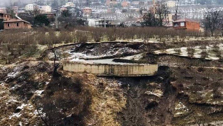 Ordu'da heyelan riski! 12 bina tahliye edildi