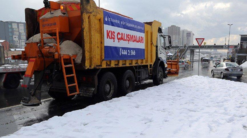 İstanbul'da beklenen kar yağışı için 6 bin 882 personel hazır bekletiliyor