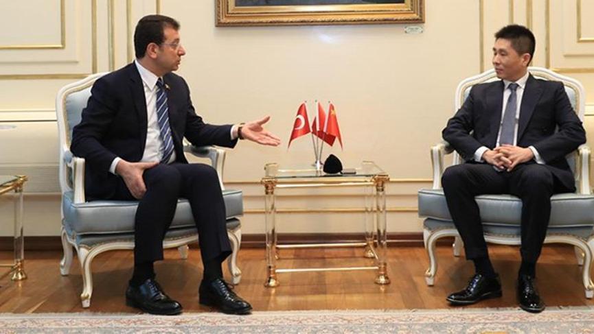 Çin İstanbul Başkonsolosu Wei'den İmamoğlu'na 'Corona' ziyareti