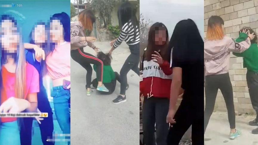 Denizli'de kız çocukları çete kurdu, kan donduran görüntüler ortaya çıktı