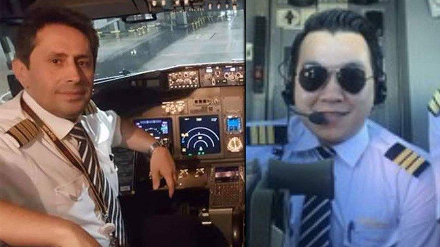 Kaza yapan uçağın pilotlarının fotoğrafları ortaya çıktı!