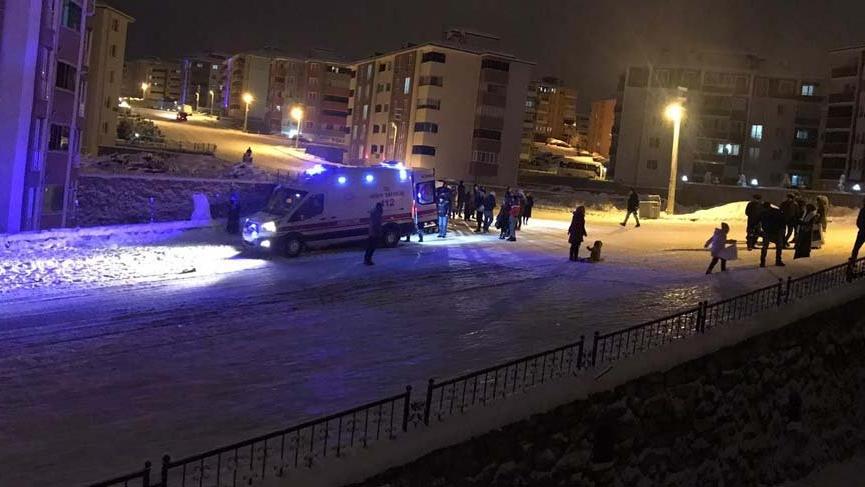 Kar eğlencesi hastanede bitti!
