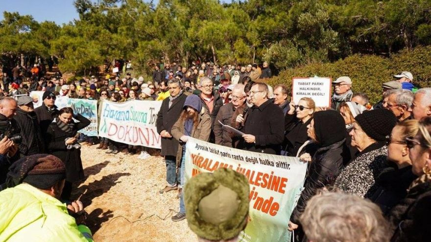 Ayvalık'ta 'rant' protestosu! Yüzlerce kişi akın etti!