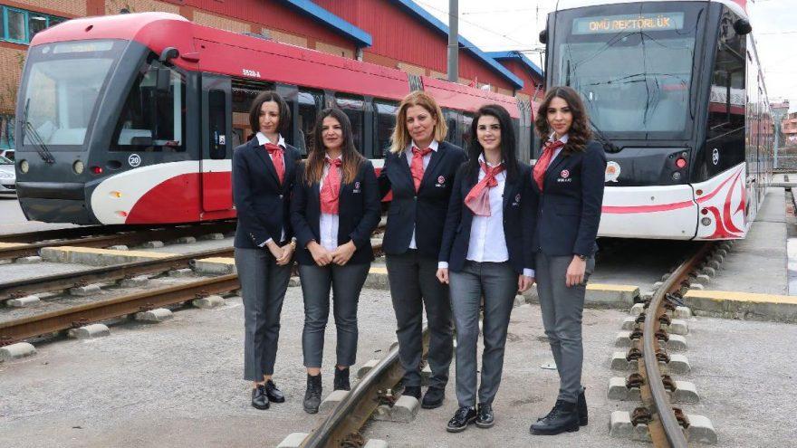 Samsun'da tramvayınkadın makinistleri