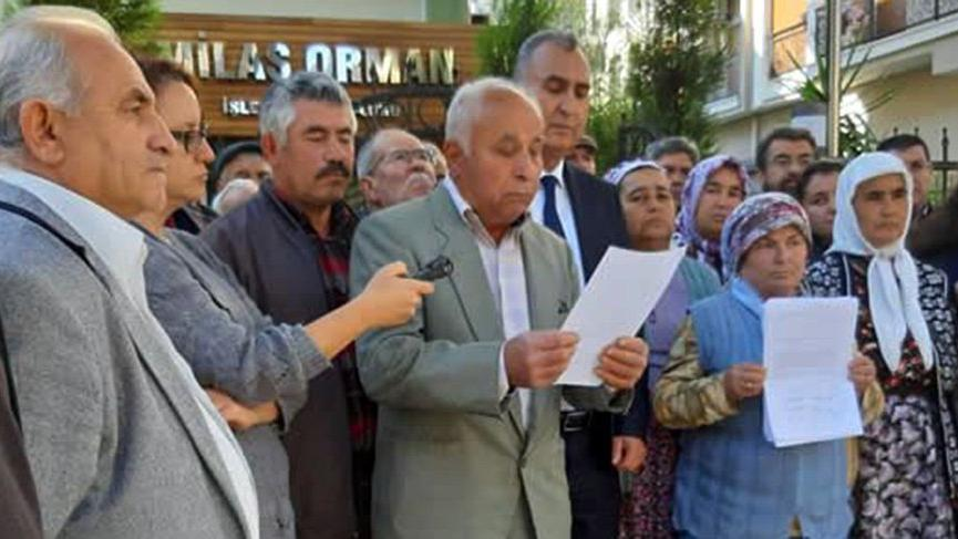 Milas'ta köylüler direndi orman kurtuldu