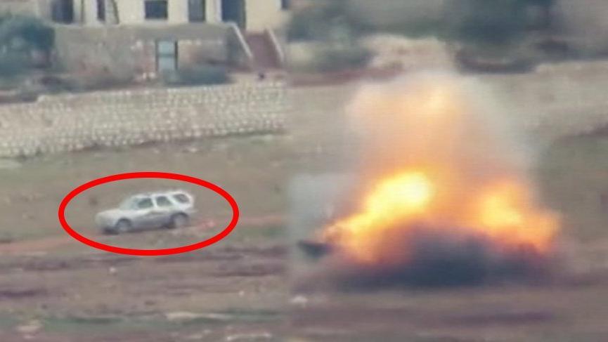 Suriye güçlerine ait askeri araç böyle havaya uçuruldu!