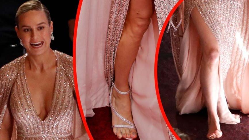 Brie Larson'ın ayakları 92. Oscar törenine damgasını vurdu