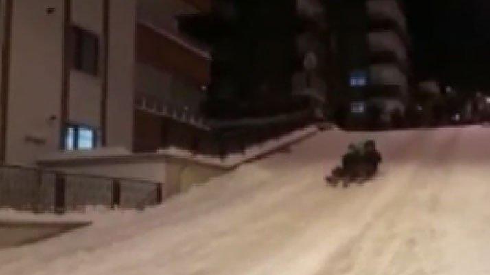 Kar eğlencesinde korkunç kaza!