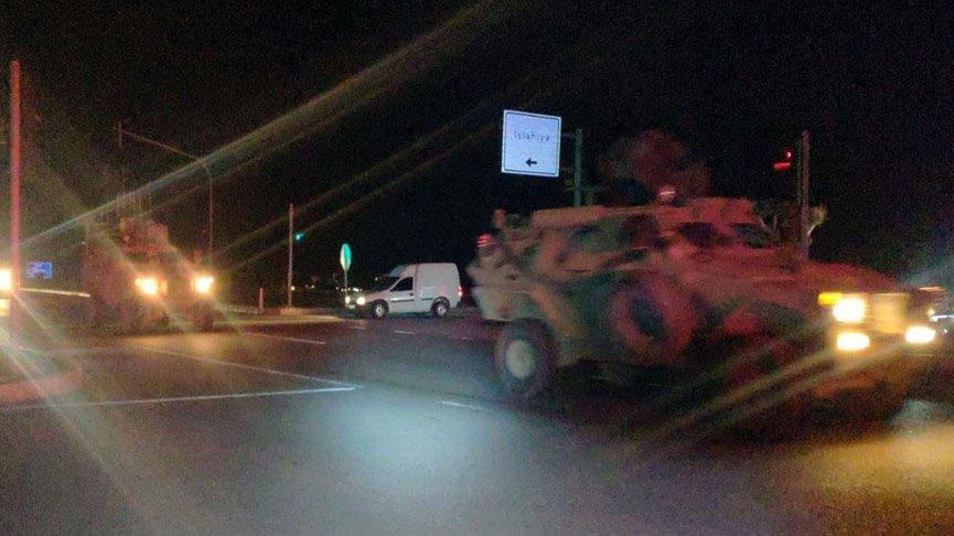 Büyük zırhlı araçlar Suriye sınırında!