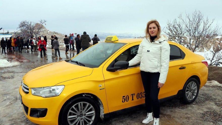 Kapadokya'nın tek kadın taksicisi göreve başladı