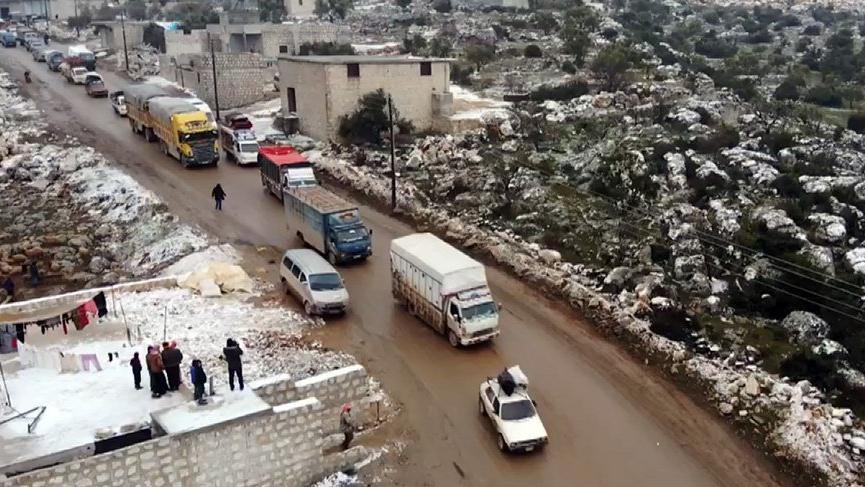 İdlib'den yola çıktılar, akın akın geliyorlar!