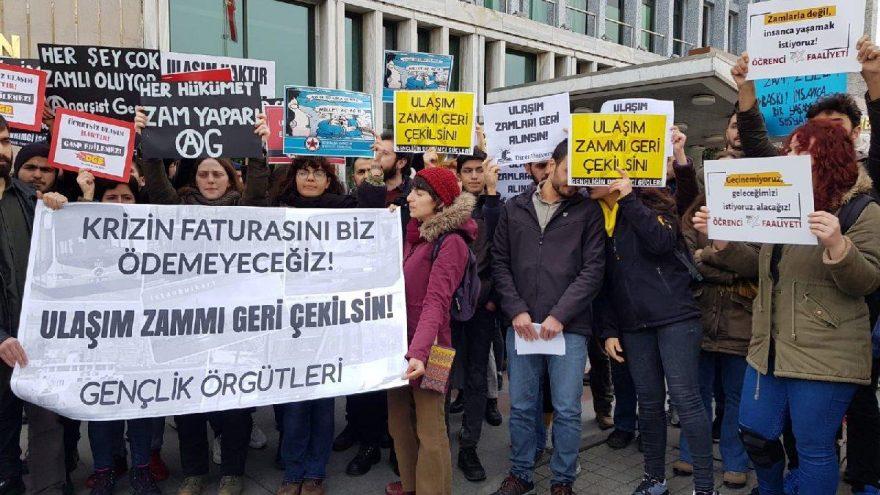 İBB önünde zam protestosu!