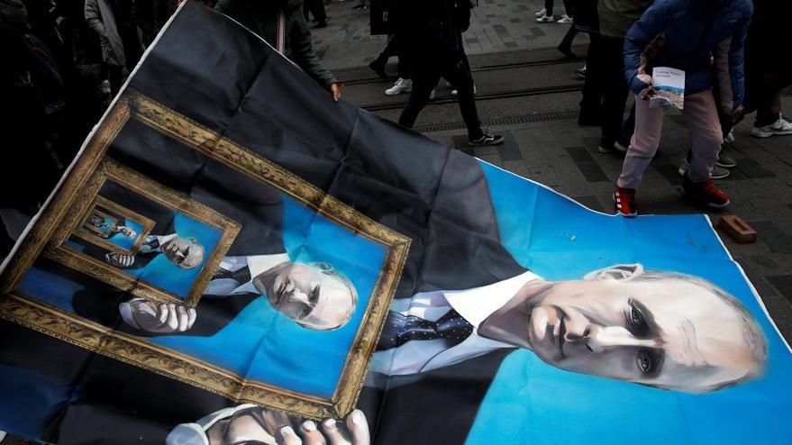 Görenler inanamadı: İstiklal Caddesi'nde Putin gerilimi