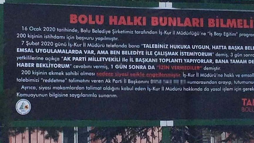 CHP-AKP kavgası! Başkanın telefonunu afişe yazıp astırdı