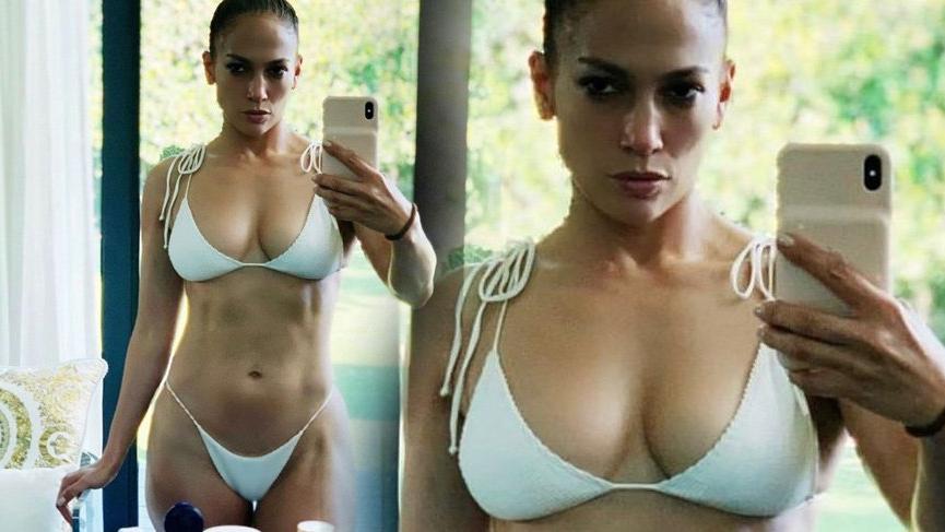 Jennifer Lopez'den 50 yaş selfie'si