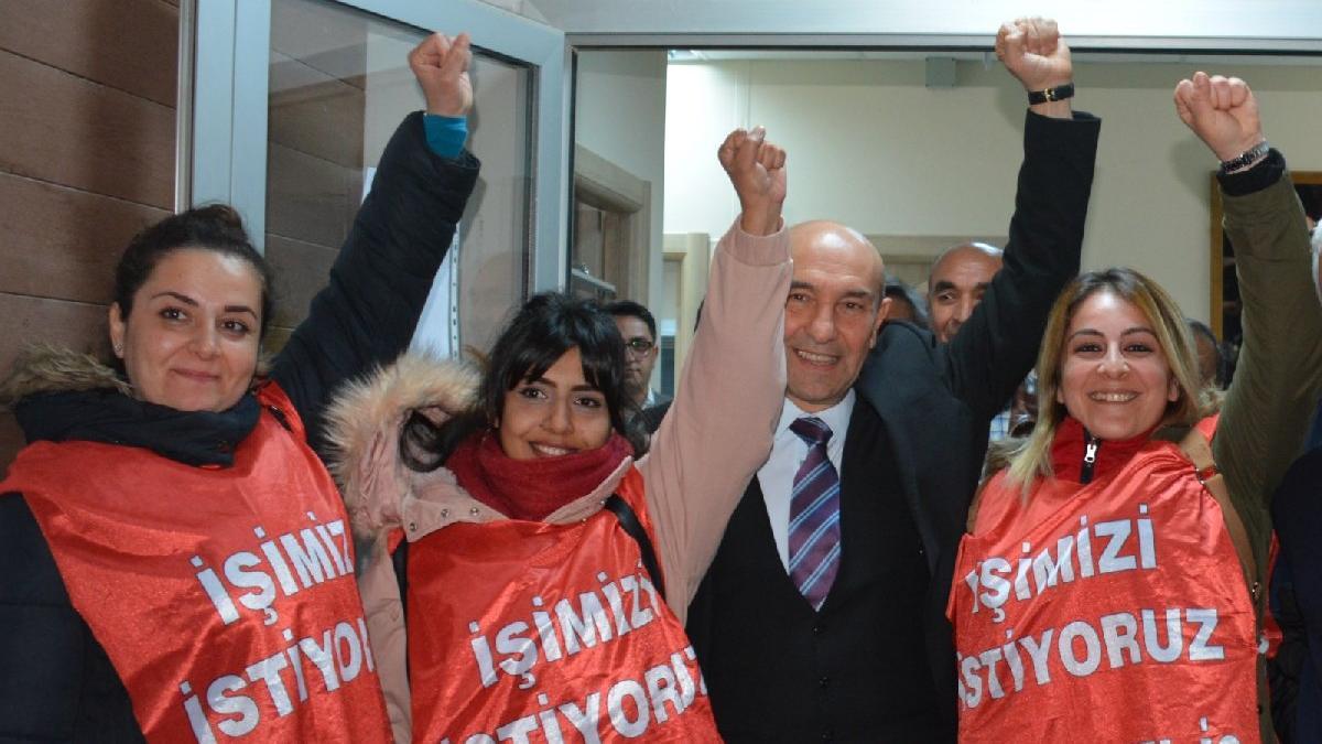 Bergamalı 3 kadın işçiye Başkan Soyer'den destek