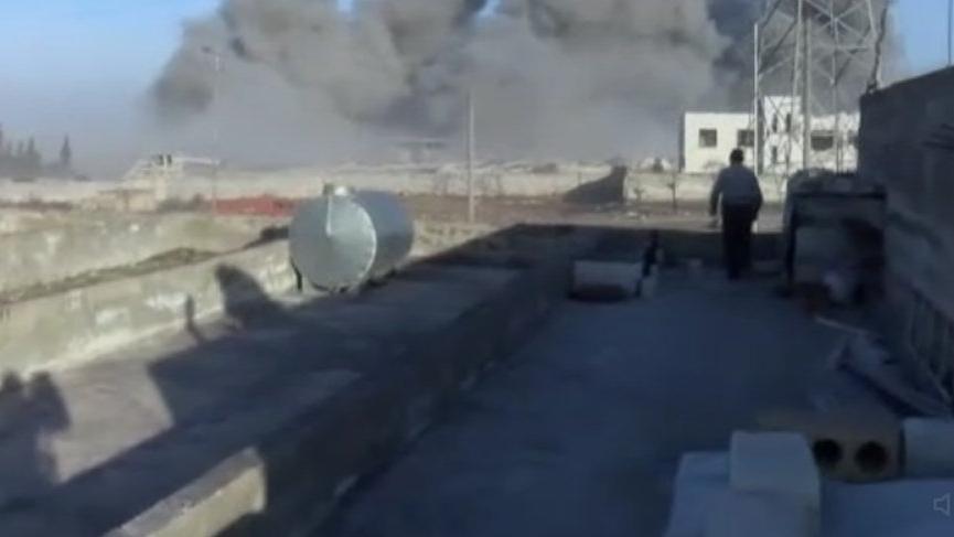 Suriye'deki çatışma anları kamerada!