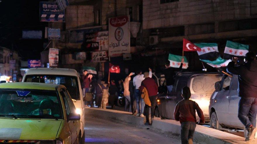 İdlib halkı Türk bayrağıyla sokağa döküldü!