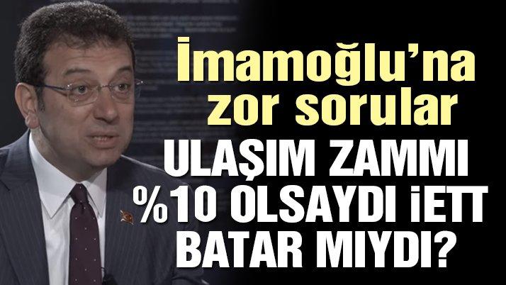 Nihat Sırdar'dan Ekrem İmamoğlu'na zor sorular