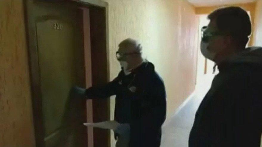 Corona virüsü taşıyan hastalar özel alanda görüntülendiler!