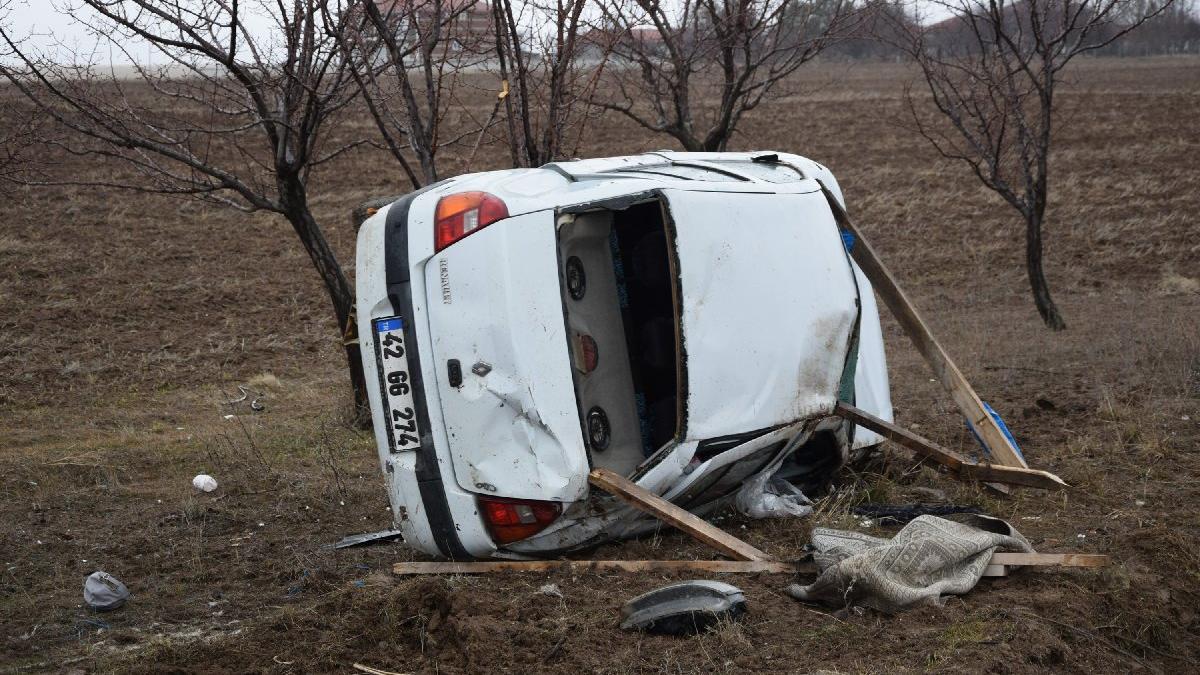İsveç'ten Konya'ya gelen çift kaza yaptı: 1 ölü, 1 yaralı