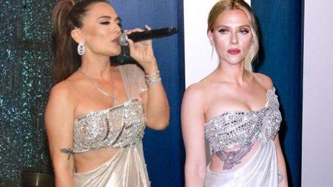 Demet Akalın Scarlett Johansson'u taklit etti sosyal medya dalga geçti