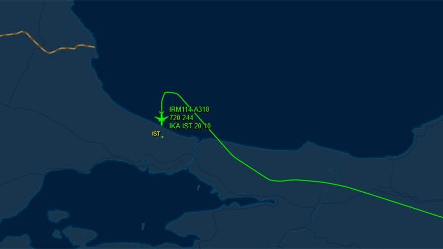 Tahran'dan kalkan uçak, İstanbul'a iniş yaptı!