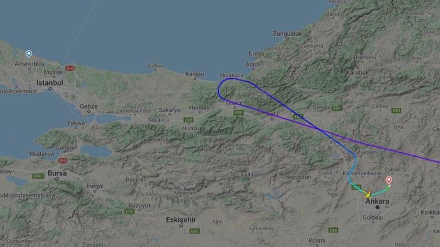 Şüpheli uçak İstanbul'un kıyısından dönmüş