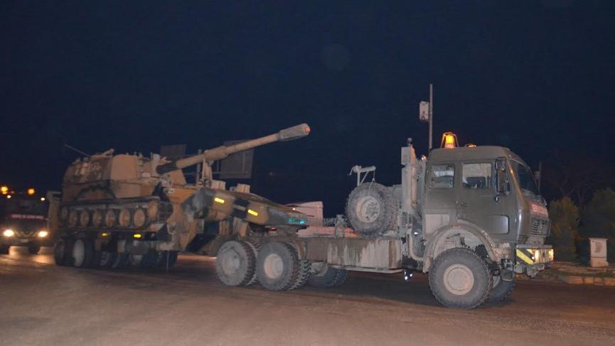 Suriye sınırına askeri araçlar sevk edildi!