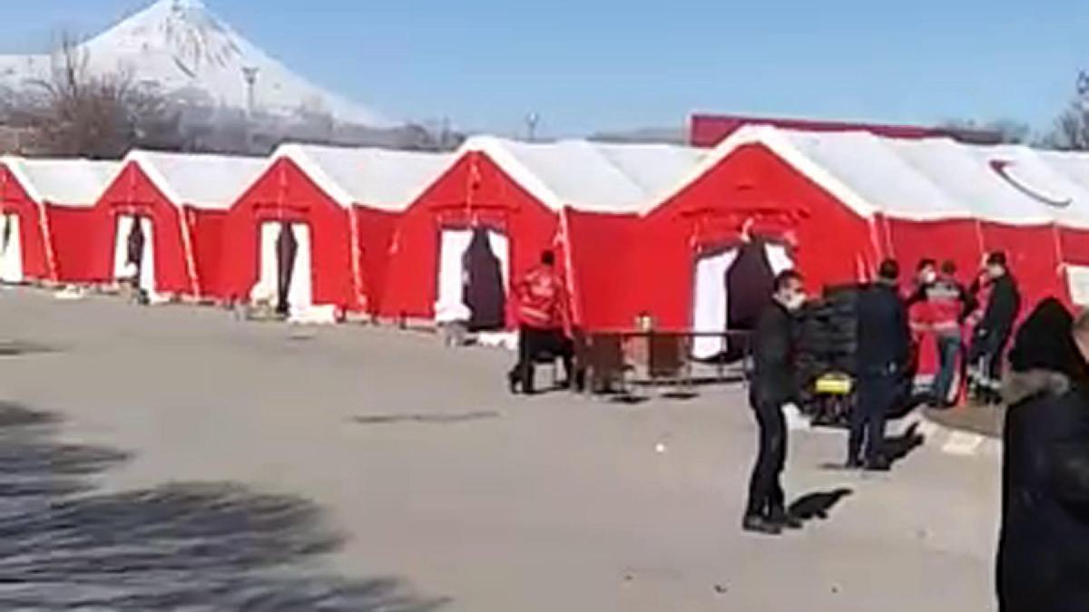 İran sınırına Corona virüse karşı hastane kuruluyor!