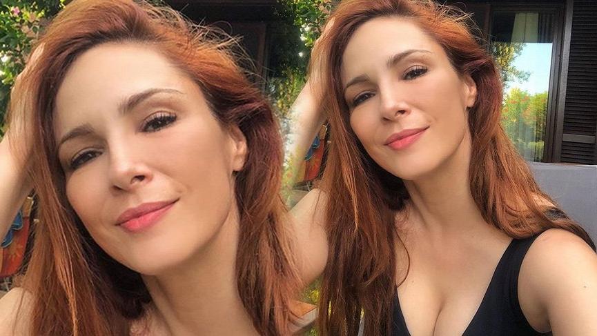 Mine Tugay'ın dekolteli selfiesi