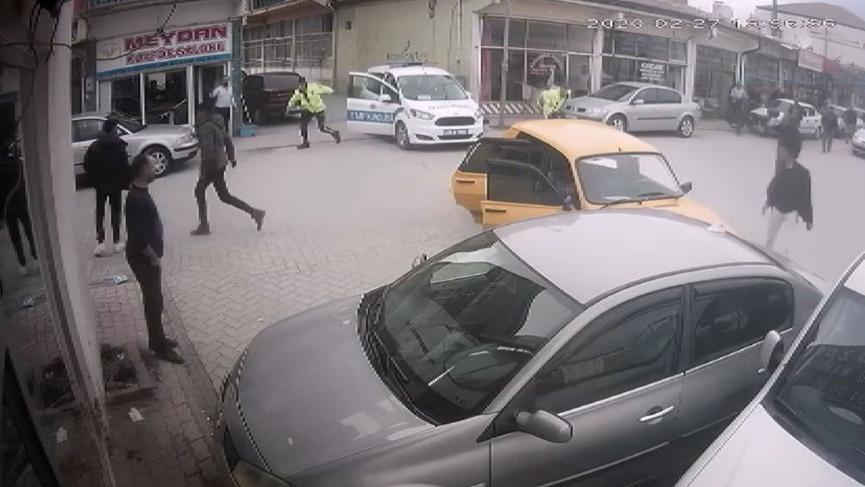 Polisten kaçan 4 kişi kaza yapınca yakalandı!
