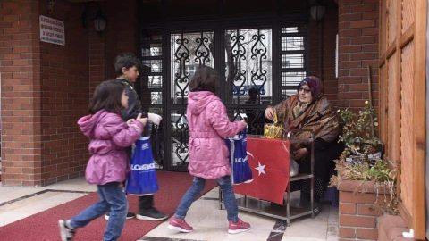 Konya'da çocukların 'şivlilik' mutluluğu