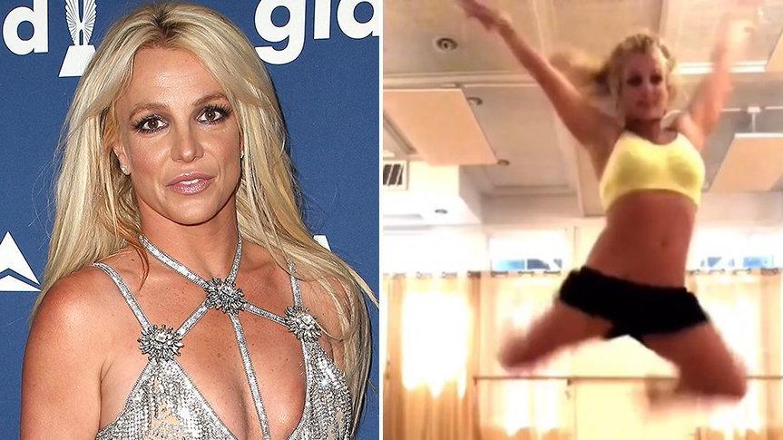 Britney Spears, dans ederken ayağını kırdı