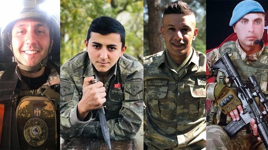 İdlib şehitleri memleketlerinde toprağa verildi