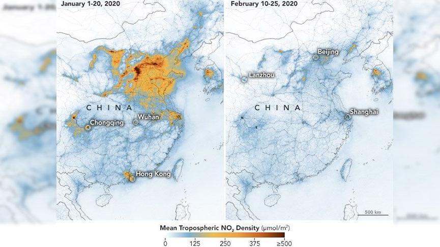 NASA: Korona salgını Çin'deki hava kirliliğini azalttı