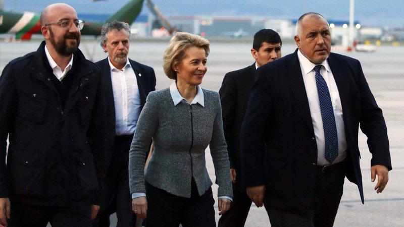 AB liderleri Türkiye-Bulgaristan sınırını havadan inceledi