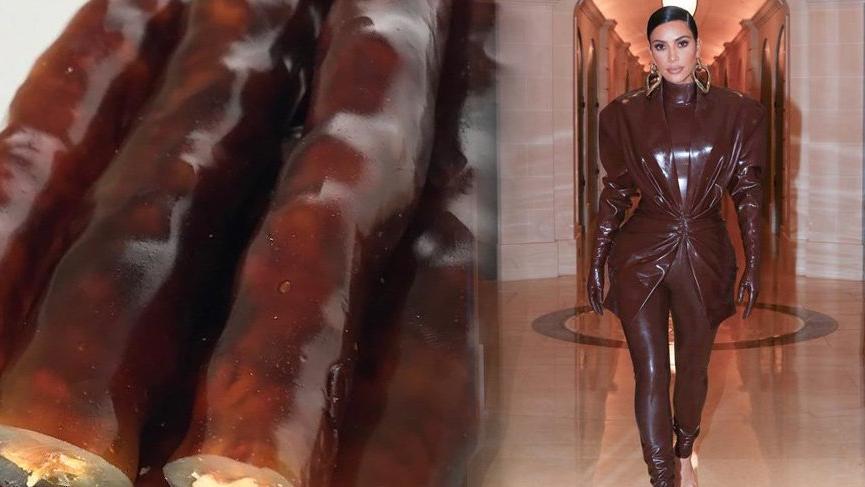 Kim Kardashian'ı cevizli sucuğa benzettiler