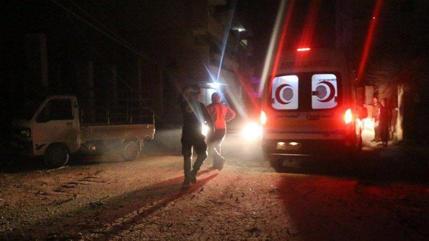 Terör örgütü Afrin'de sivillere saldırdı!