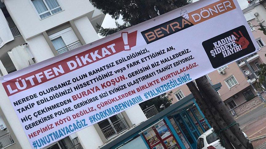 Kadınlara şiddete karşı sığınma dükkanı