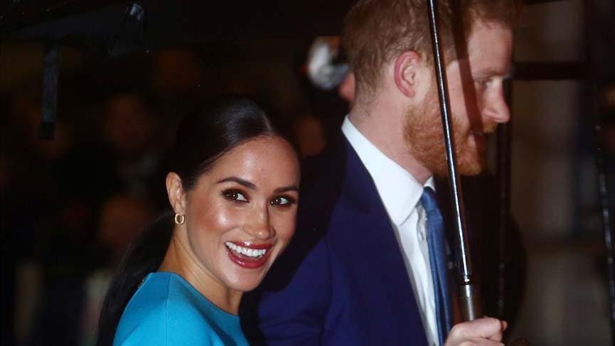 Meghan Markle ve Prens Harry, Kraliyet Ailesi'nden ayrılmadan önce, son görevleri için Londra'da